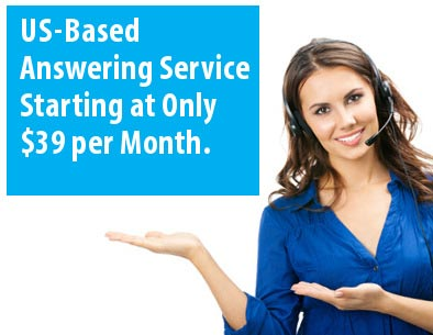 US-based answering service graphic